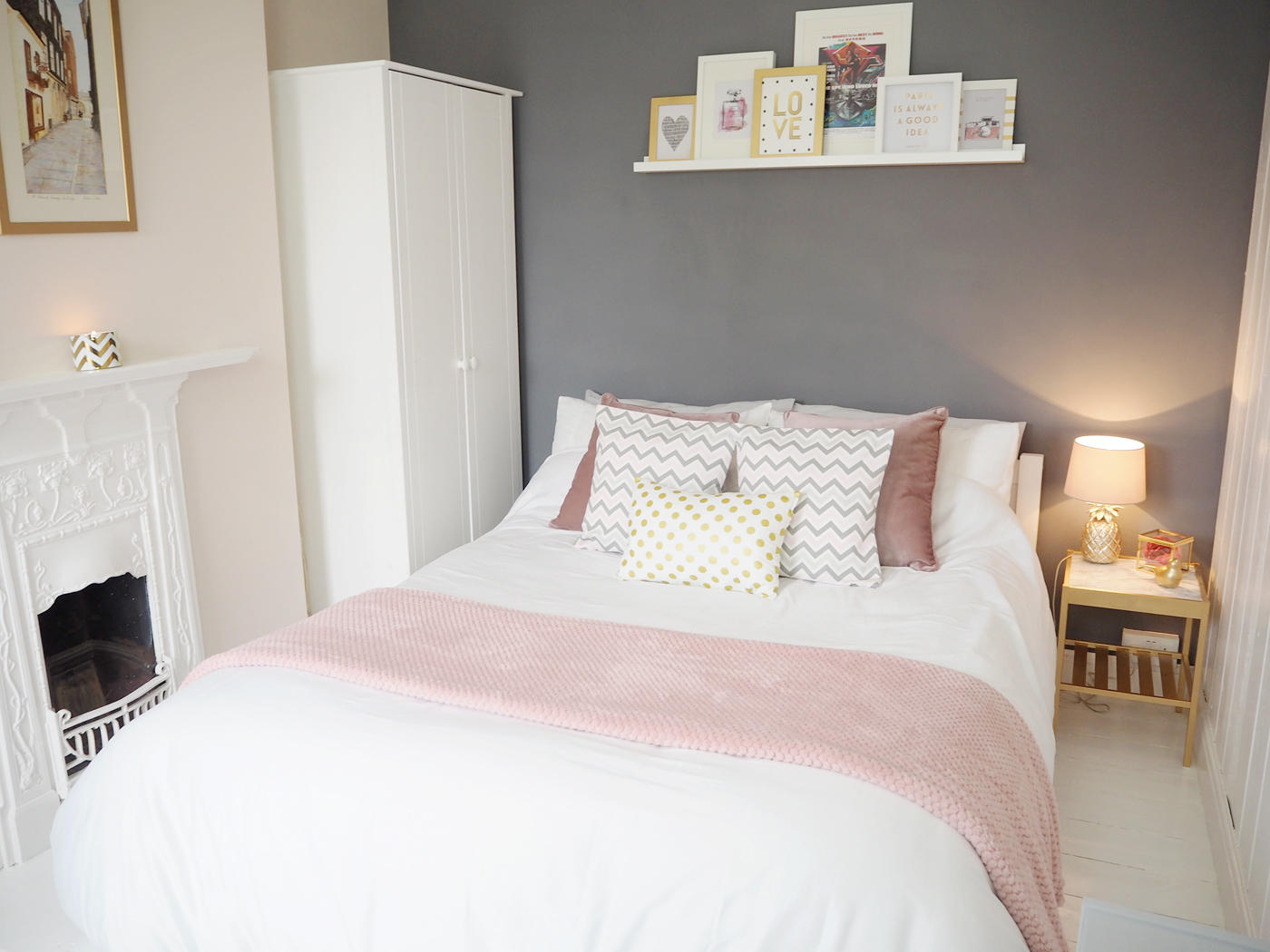 Enchanting Hot Pink Gray Bedroom - slubne-suknie.info